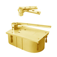 "127-105N-CWF-LH-605 Rixson 27 Series Heavy Duty 3/4"" Offset Hung Floor Closer in Bright Brass Finish"