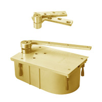 "127-105N-CWF-LH-606 Rixson 27 Series Heavy Duty 3/4"" Offset Hung Floor Closer in Satin Brass Finish"
