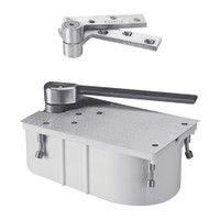 """PH27-105N-1-1-2OS-LH-626 Rixson 27 Series Heavy Duty 1-1/2"""" Offset Hung Floor Closer with Physically Handicapped Opening Force in Satin Chrome Finish"""