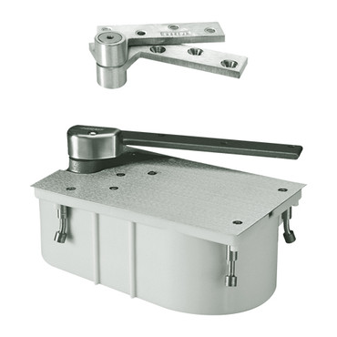 "PH27-90S-1-1-2OS-LH-619 Rixson 27 Series Heavy Duty 1-1/2"" Offset Hung Floor Closer with Physically Handicapped Opening Force in Satin Nickel Finish"