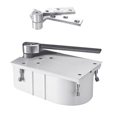 "PH27-90S-1-1-2OS-LH-625 Rixson 27 Series Heavy Duty 1-1/2"" Offset Hung Floor Closer with Physically Handicapped Opening Force in Satin Chrome Finish"