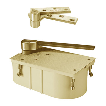 """PH27-90S-1-1-2OS-RH-606 Rixson 27 Series Heavy Duty 1-1/2"""" Offset Hung Floor Closer with Physically Handicapped Opening Force in Satin Brass Finish"""