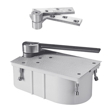 """PH27-95S-1-1-2OS-LH-626 Rixson 27 Series Heavy Duty 1-1/2"""" Offset Hung Floor Closer with Physically Handicapped Opening Force in Satin Chrome Finish"""