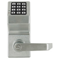 DL6100-US26D Alarm Lock Trilogy Electronic Digital Lock in Satin Chrome Finish