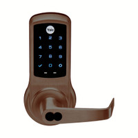 AU-NTB620-NR-613E-1210-LC Yale NexTouch Capacitive Touchscreen Access Lock Yale LFIC Less Core with Augusta Lever in Dark Oxidized Satin Bronze