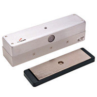 3006-ATS-US28 DynaLock 3006 Series 1500 LBs Single Outswing Free Egress Electromagnetic Lock with ATS in Satin Aluminum