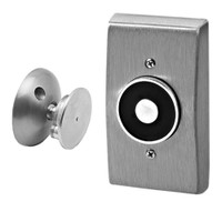 2804-US28 DynaLock 2800 Series Flush Wall Mount Electromagnetic Door Holder for Standard Armature in Satin Aluminum
