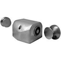 2802-US28 DynaLock 2800 Series Floor Mount Electromagnetic Door Holder for Double Door in Satin Aluminum