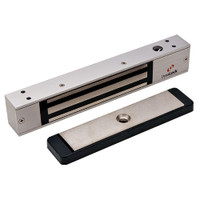 2511-US28 DynaLock 2500 Series 650 LB Mini-Mag Single Electromagnetic Lock for Outswing Door in Satin Aluminum