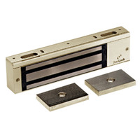 2012-US4 DynaLock 2000 Series 1200 LB Holding Force Single Electromagnetic Lock Pair Outswing in Satin Brass