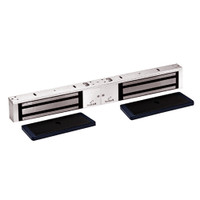 2022-US28-VOP2 DynaLock 2000 Series 1200 LB Holding Force Double Electromagnetic Lock with Value Option Package in Satin Aluminum