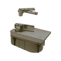 Q27-90S-LTP-LH-613 Rixson 27 Series Heavy Duty Quick Install Offset Hung Floor Closer in Oil Rubbed Bronze Finish