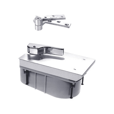 PHQ27-90S-LH-625 Rixson 27 Series Heavy Duty Quick Install Offset Hung Floor Closer in Bright Chrome Finish