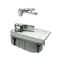 QT27-90S-LH-619 Rixson 27 Series Heavy Duty Quick Install Offset Hung Floor Closer in Satin Nickel Finish