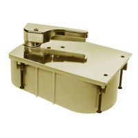 HM27-90S-LFP-CWF-RH-606 Rixson 27 Series Heavy Duty Offset Hung Floor Closer with HM Door and Frame Preps in Satin Brass Finish