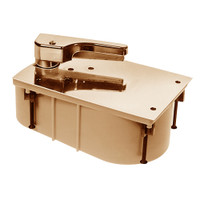 HM27-95S-LFP-CWF-LH-612 Rixson 27 Series Heavy Duty Offset Hung Floor Closer with HM Door and Frame Preps in Satin Bronze Finish
