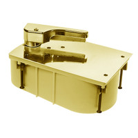SCHM27-85S-LH-605 Rixson 27 Series Heavy Duty Offset Hung Floor Closer with HM Door and Frame Preps in Bright Brass Finish