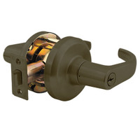 QCL154M613NOL478SSC Stanley QCL100 Series Schlage C Keyway Cylindrical Corridor Lock with Summit Lever in Oil Rubbed Bronze Finish
