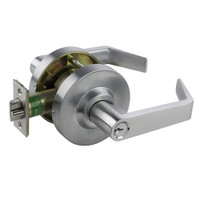 QL17SB-26D Arrow Cylindrical Lock QL Series Classroom Lever Lock with Sierra Lever in Satin Chrome