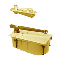 SC28-90S-CWF-LH-605 Rixson 28 Series Heavy Duty Single Acting Center Hung Floor Closer in Bright Brass Finish
