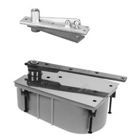 28-95S-554-LH-626 Rixson 28 Series Heavy Duty Single Acting Center Hung Floor Closer with Concealed Arm in Satin Chrome Finish