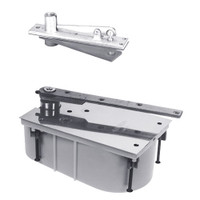 28-95S-554-LH-625 Rixson 28 Series Heavy Duty Single Acting Center Hung Floor Closer with Concealed Arm in Bright Chrome Finish