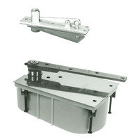 28-85N-554-LFP-LH-619 Rixson 28 Series Heavy Duty Single Acting Center Hung Floor Closer with Concealed Arm in Satin Nickel Finish