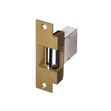 007-RS-12DC Trine Light Commercial Fail Safe Electric Strikes in Brass Powder Finish