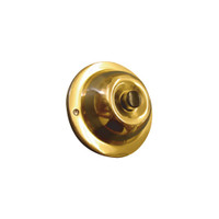 SRP Trine Push Bell Button in Polished Solid Brass with Black Center Finish