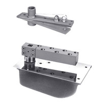 H28-90S-587-LFP-CWF-LH-625 Rixson 28 Series Extra Heavy Duty Single Acting Center Hung Concealed Floor Closer in Bright Chrome Finish
