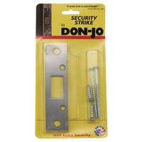 "2-SDS-SL Don Jo 4-7/8"" Security Strike Plate in Silver Coated Finish"