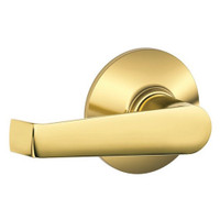 F10-ELA-605 Schlage F Series - Elan Lever style with Passage Lock Function in Bright Brass