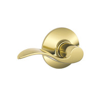 F10-ACC-605 Schlage F Series - Accent Lever style with Passage Lock Function in Bright Brass