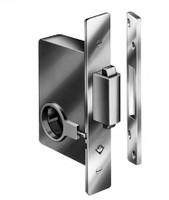 2331 626 Adams Rite Deadbolt for Sliding Glass Door, Satin Chrome