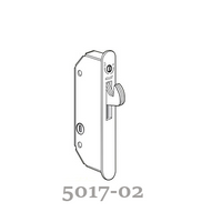 5017-02 Self latching adams rite sliding door lock for wood doors
