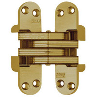 218-US4 Soss Invisible Hinge in Satin Brass Finish