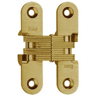 208-US4 Soss Invisible Hinge in Satin Brass Finish