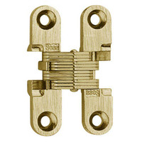 101C-US3 Soss Invisible Hinge in Bright Brass Finish