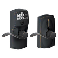 FE595-CAM-716-ACC Schlage Electrical Keypad Deadbolt Lock in Aged Bronze
