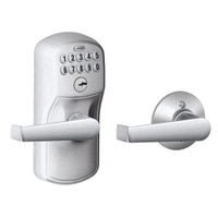 FE575-PLY-626-ELA Schlage Electrical Keypad Entry Auto-Lock in Satin Chrome