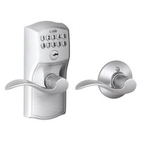 FE575-CAM-626-ACC Schlage Electrical Keypad Entry Auto-Lock in Satin Chrome