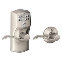 FE575-CAM-619-ACC Schlage Electrical Keypad Entry Auto-Lock in Satin Nickel