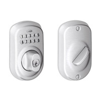 BE365-PLY-626 Schlage Electrical Keypad Deadbolt Lock in Satin Chrome