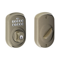 BE365-PLY-620 Schlage Electrical Keypad Deadbolt Lock in Antique Pewter