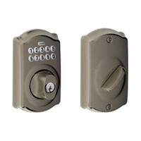 BE365-CAM-620 Schlage Electrical Keypad Deadbolt Lock in Antique Pewter