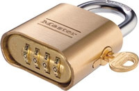 Master Lock 176 Combination Padlock including control key  and reset tool