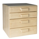Amsec 1335307 Four Drawer Storage Cabinet