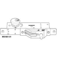 MS1861-01-603-IB Adams Rite Bottom Rail Deadlock in Zinc plated steel