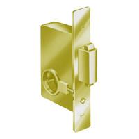 2331-605 Adams Rite Heavy Duty Deadbolt with Strike for Sliding Door in Bright Brass