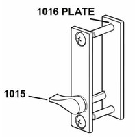 1016-121 Adams Rite Outside Escutcheon Trim in Dark Bronze